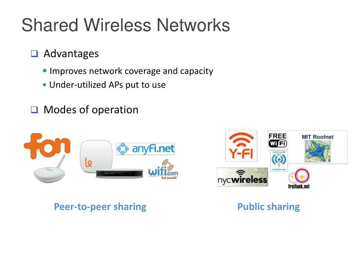 Shared Wireless Networks