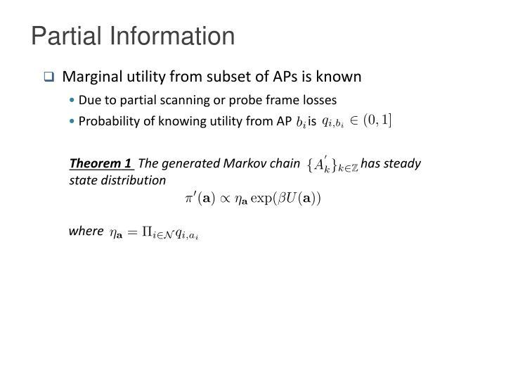 Partial Information