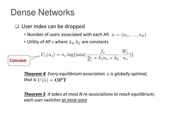 Dense Networks