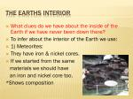 the earths interior