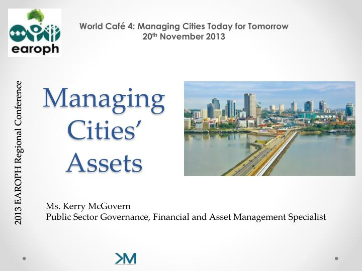 managing cities assets n.