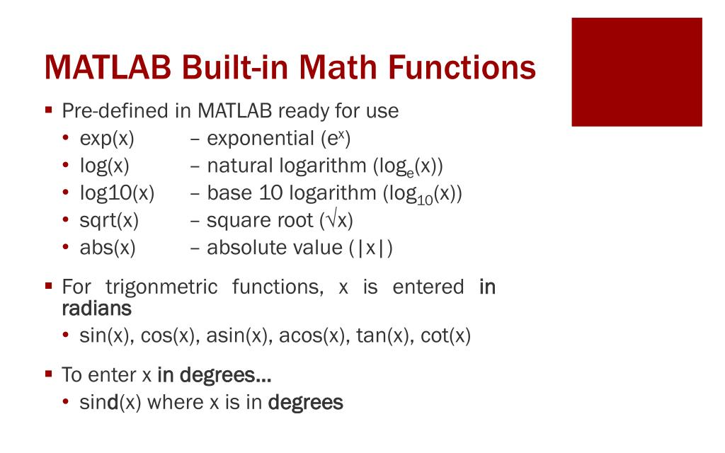 PPT - Introduction to MATLAB PowerPoint Presentation - ID