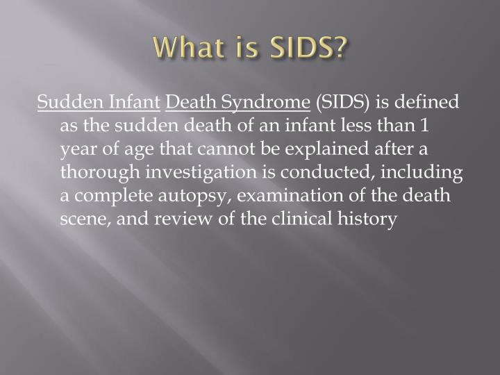 the sudden infant death syndrome and human development through the life span Sudden unexpected infant deaths include sudden infant death syndrome (sids), accidental suffocation in a sleeping environment, and other deaths from unknown causes although the suid rate has declined since 1990s, significant racial and ethnic differences continue.