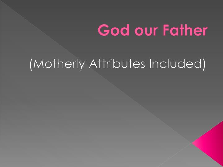 god our father n.