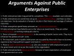arguments against public enterprises