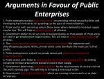arguments in f avour of public enterprises