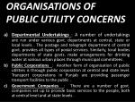 organisations of public utility concerns