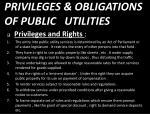 privileges obligations of public utilities