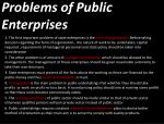 problems of public enterprises