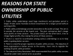 reasons for state ownership of public utilities