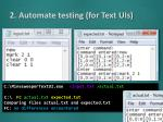 2 automate testing for text uis3
