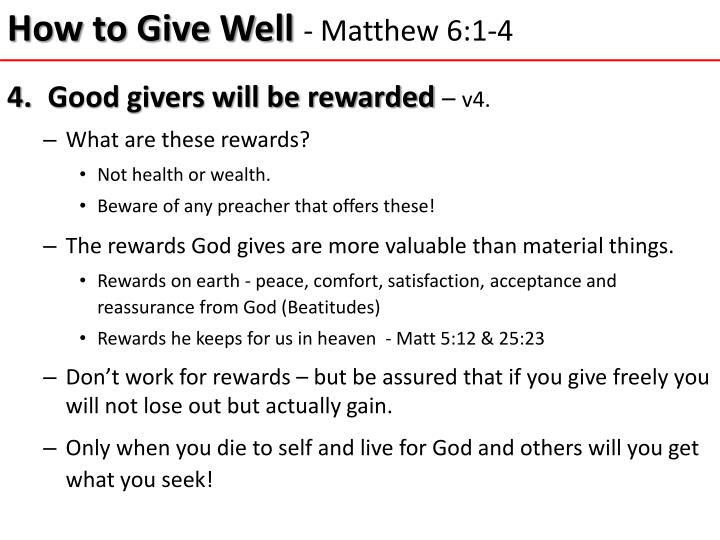 How to Give