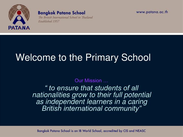 welcome to the primary school n.