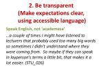 2 be transparent make expectations clear using accessible language1