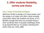 3 offer students flexibility variety and choice2