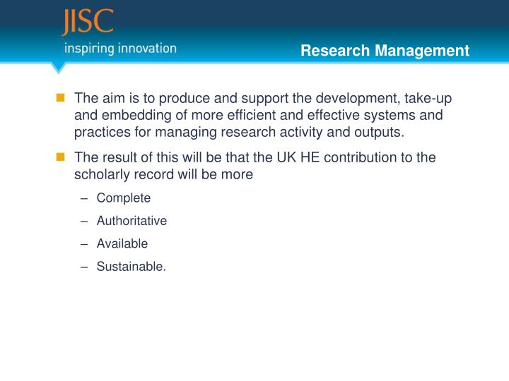 Research management1
