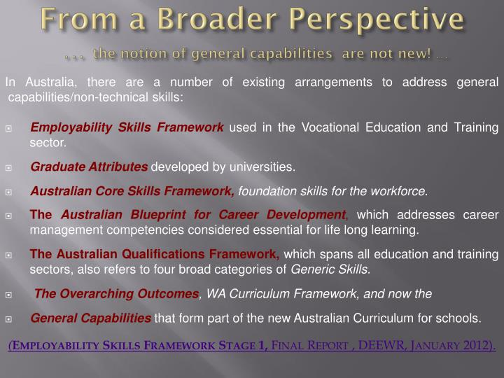Ppt australian curriculum powerpoint presentation id2473626 from a broader perspective the notion of general capabilities malvernweather Image collections
