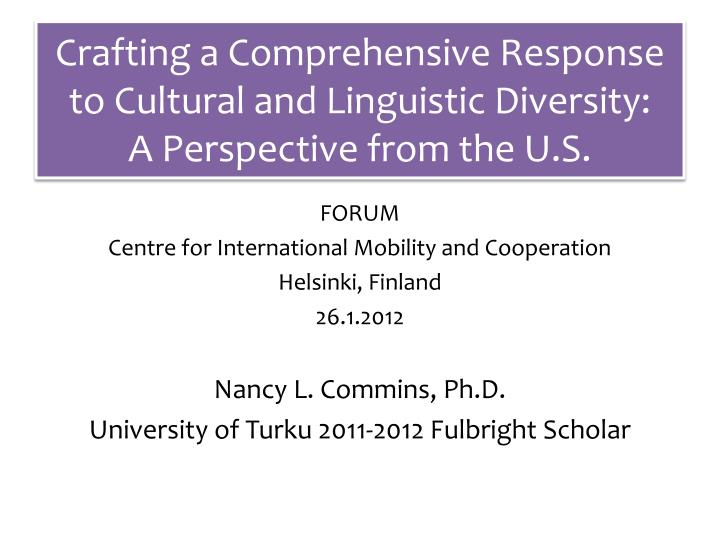 cultural and linguistic diversity and s