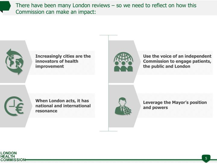 There have been many London reviews – so we need to reflect on how this Commission can make an