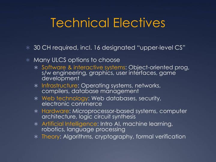Technical Electives