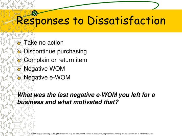 Responses to Dissatisfaction
