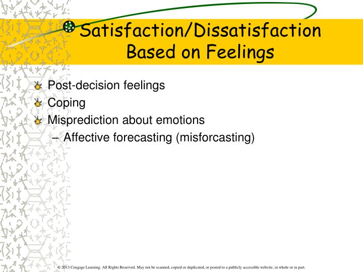 Satisfaction/Dissatisfaction