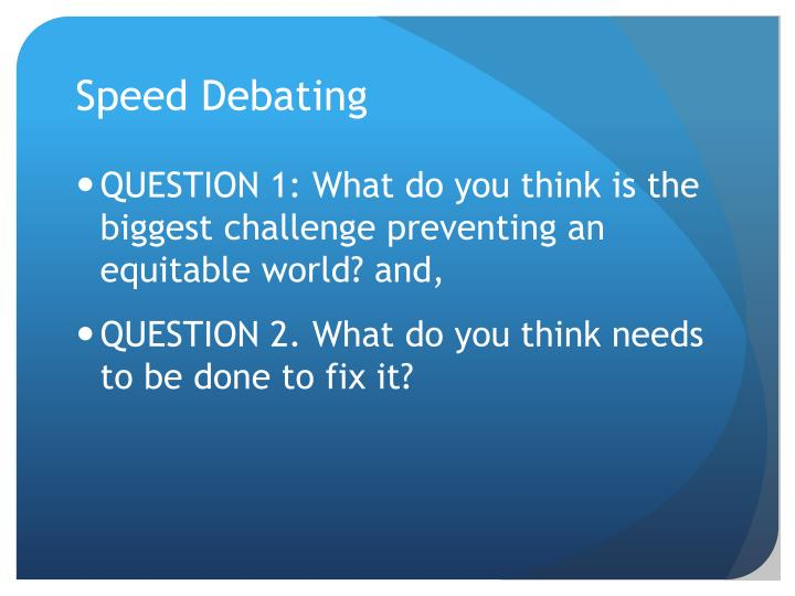 Speed Debating