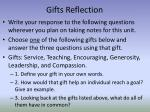 gifts reflection