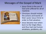 messages of the gospel of mark