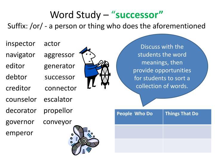 Word Study –