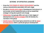 actions of effective leaders