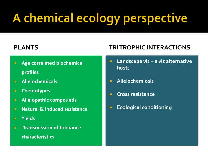 A chemical ecology perspective