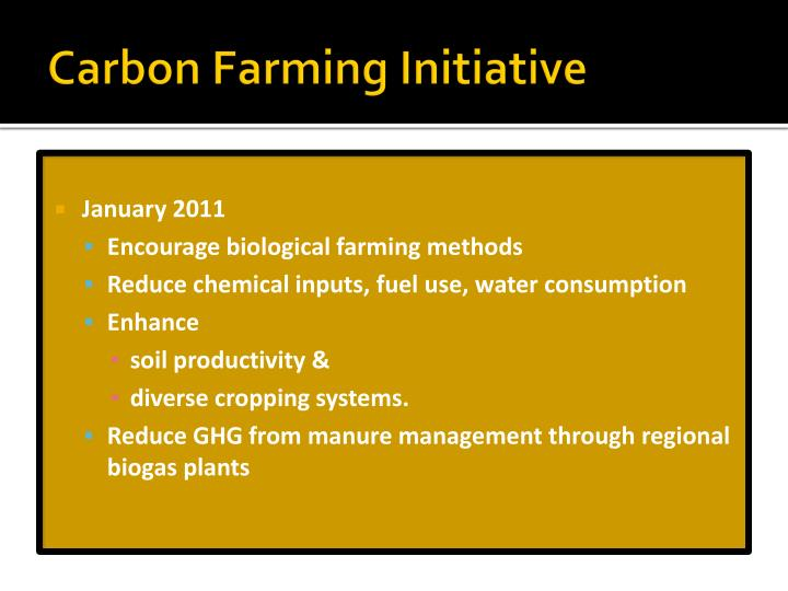 Carbon Farming Initiative