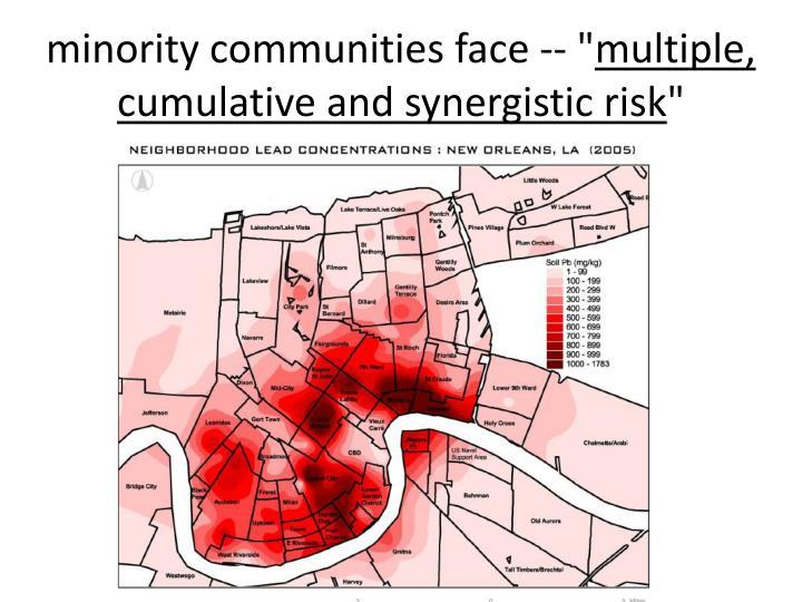"minority communities face -- """