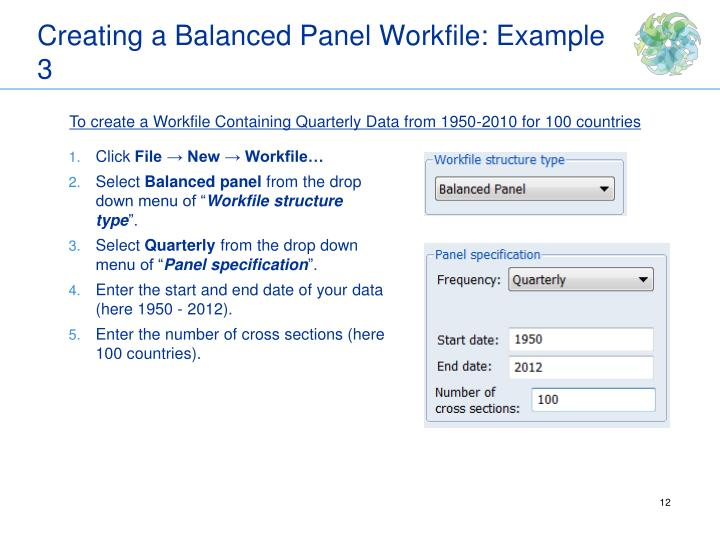 Creating a Balanced Panel Workfile: Example 3