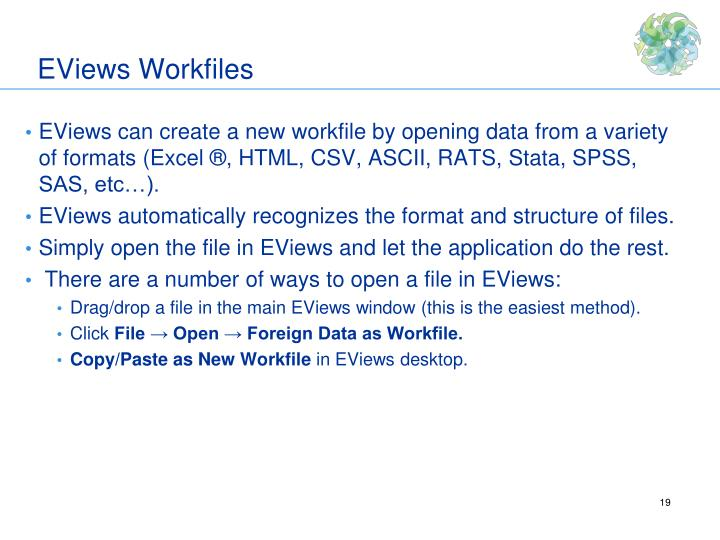 EViews Workfiles