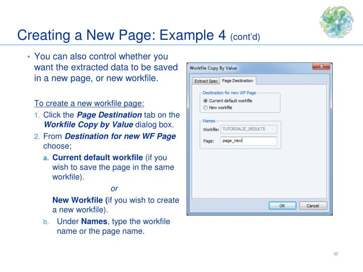 Creating a New Page: Example 4