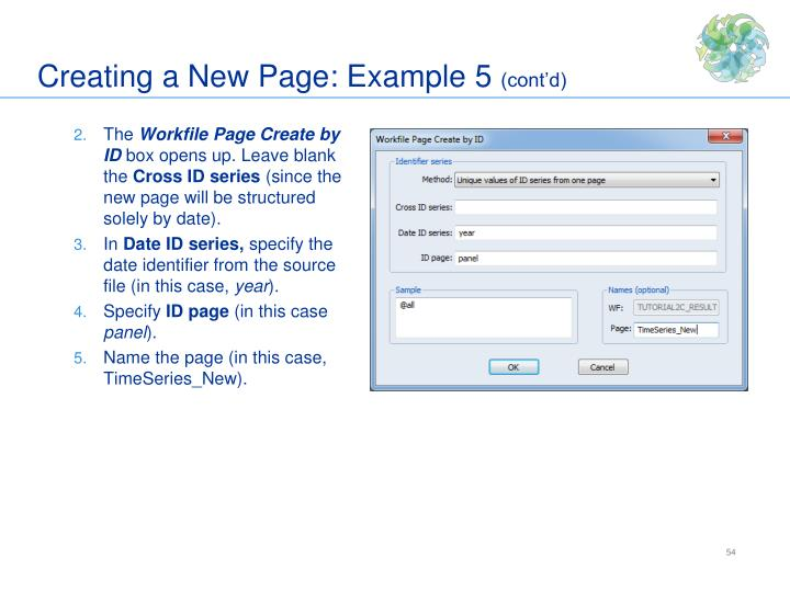Creating a New Page: Example 5