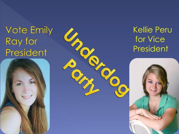 Vote emily ray for president