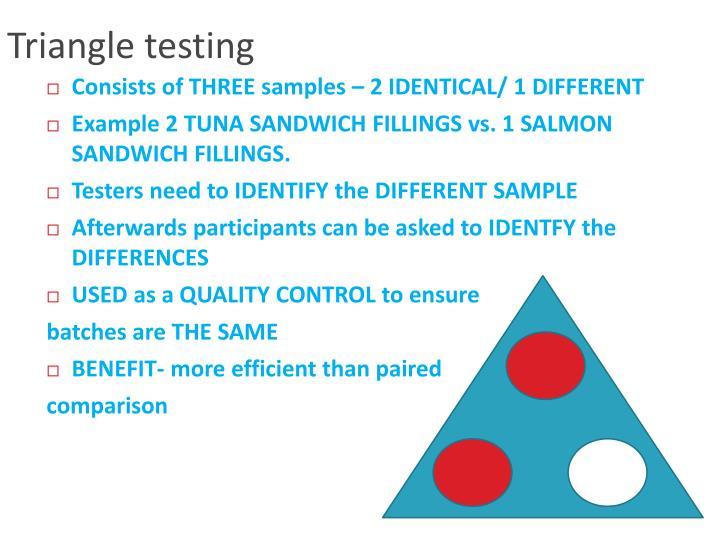 Triangle testing