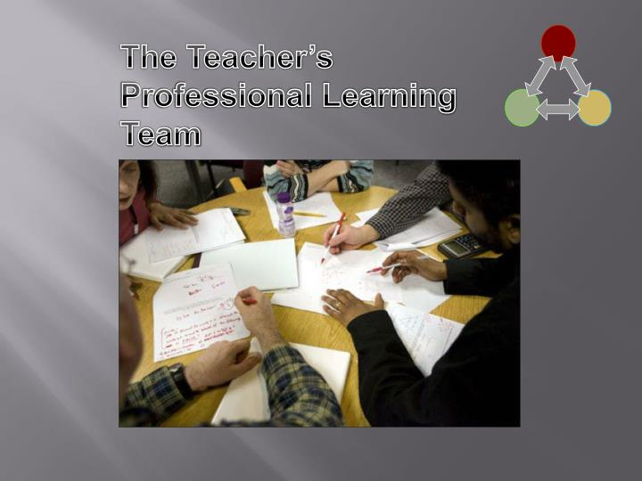 The Teacher's Professional Learning Team