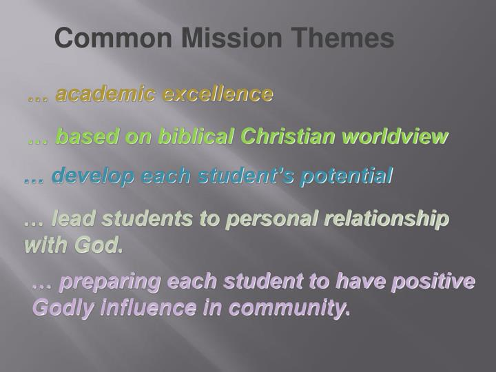 Common Mission Themes