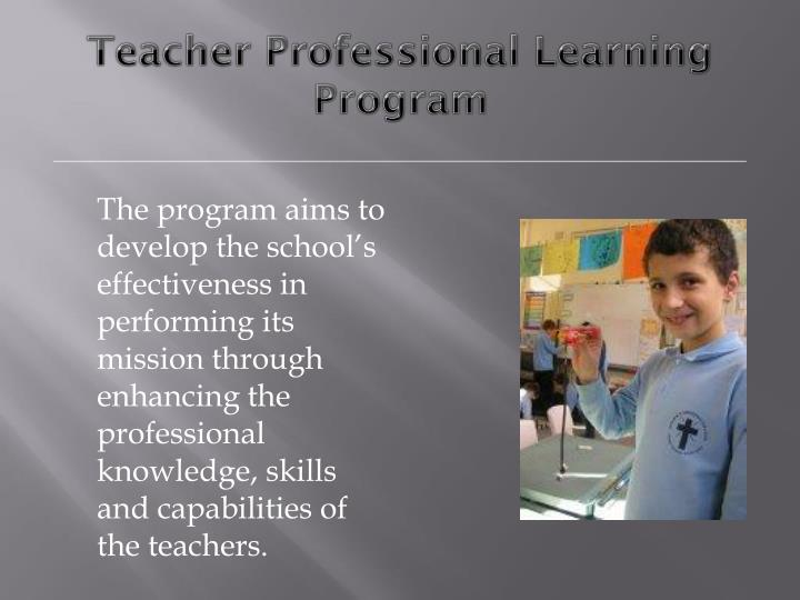 Teacher Professional Learning Program
