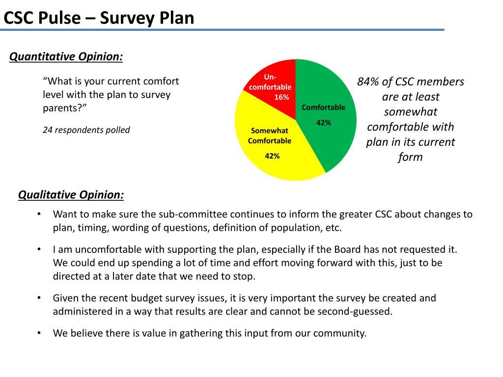 ppt csc pulse survey plan powerpoint presentation id 2474434