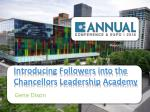 introducing followers into the chancellors leadership academy