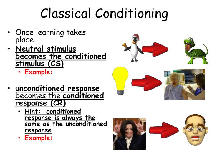 unconditioned response examples