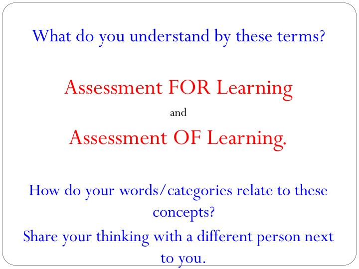 What do you understand by these terms?