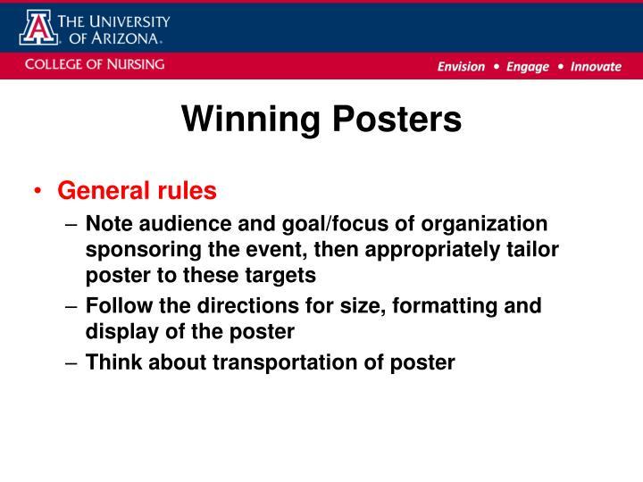 Winning poster s