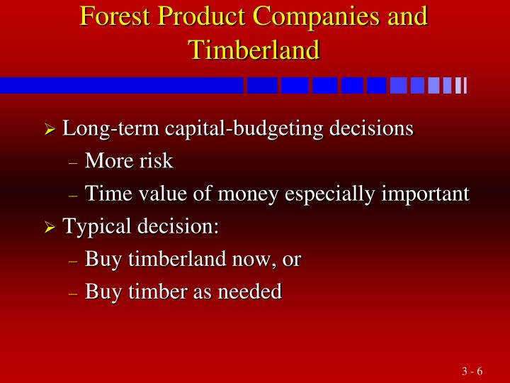 Forest Product Companies and Timberland