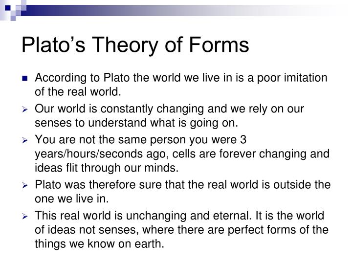 an analysis of platos theory of perfect forms and aristotles theory of substance Get help on 【 compare and contrast aristotle's concept of the good with  the theory abstract, referring to forms that  analysis of plato and.